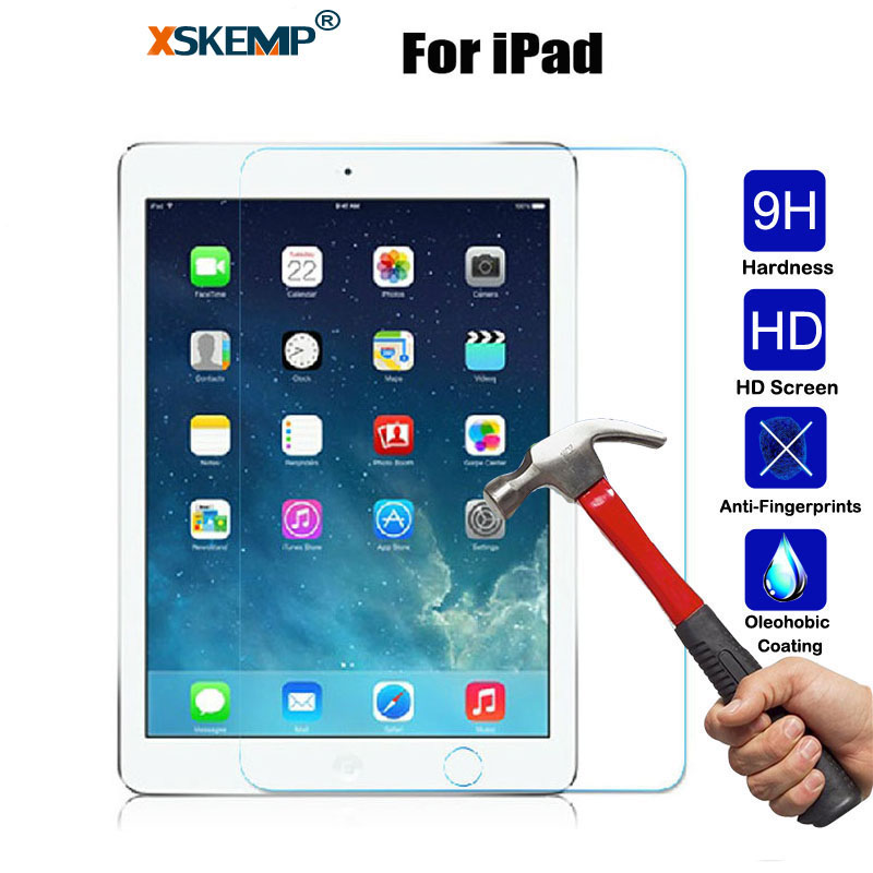 XSKEMP 9 H Gerçek Temperli Cam Apple ipad Mini 2 3 4 hava Air2 Ultra Clear Tablet Ekran Koruyucu Film iPad Için Pro 9.7 2017